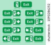 exit way sign inform spacial... | Shutterstock .eps vector #1093286252