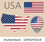 colorful flag  map pointer and... | Shutterstock .eps vector #1093292018