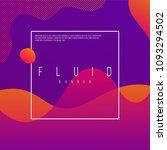 fluid banner design with modern ...   Shutterstock .eps vector #1093294502