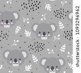 cute koala seamless pattern ...   Shutterstock .eps vector #1093296962