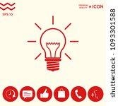 light bulb   new ideas | Shutterstock .eps vector #1093301588