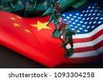china us trade war concept  ...   Shutterstock . vector #1093304258