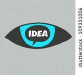 eye symbol with idea word.... | Shutterstock .eps vector #109331006
