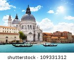 grand canal and basilica santa... | Shutterstock . vector #109331312