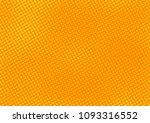orange comic pop art halftone...   Shutterstock .eps vector #1093316552