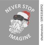Santa Claus With Virtual...
