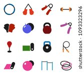 solid vector icon set   barbell ... | Shutterstock .eps vector #1093323296