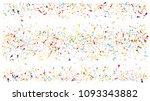 colored foil confetti falling... | Shutterstock .eps vector #1093343882