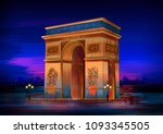 vector illustration of arc de... | Shutterstock .eps vector #1093345505
