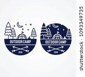 night camp adventure badge... | Shutterstock .eps vector #1093349735