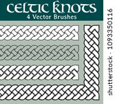 4 different versions of a brush ...   Shutterstock .eps vector #1093350116