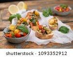 mediterranean vegetable... | Shutterstock . vector #1093352912