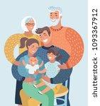 vector cartoon ilustration of... | Shutterstock .eps vector #1093367912