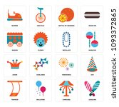 set of 16 simple editable icons ...   Shutterstock .eps vector #1093372865