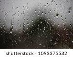 rainy days  rain drops on the... | Shutterstock . vector #1093375532