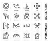 set of 16 simple editable icons ... | Shutterstock .eps vector #1093376306