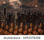 urban composition. faceless men ... | Shutterstock . vector #1093378208