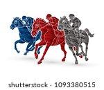 horse racing  jockey riding... | Shutterstock .eps vector #1093380515