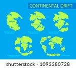 continental drift. the movement ... | Shutterstock .eps vector #1093380728