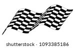checkered race flag isolated on ... | Shutterstock .eps vector #1093385186