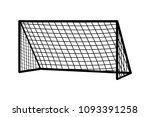 soccer goal flat icon. vector... | Shutterstock .eps vector #1093391258