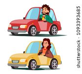 driver people vector. man ... | Shutterstock .eps vector #1093393685