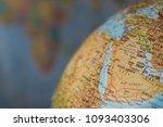 africa and middle east map on a ... | Shutterstock . vector #1093403306
