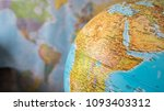 africa and middle east map on a ... | Shutterstock . vector #1093403312