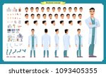 scientist character creation... | Shutterstock .eps vector #1093405355
