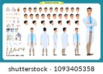 scientist character creation... | Shutterstock .eps vector #1093405358