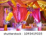 the colorful stage decoration... | Shutterstock . vector #1093419335