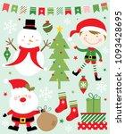 christmas set icon design | Shutterstock .eps vector #1093428695