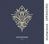 save the date invitation card... | Shutterstock .eps vector #1093431902