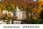 autumn view of old town of... | Shutterstock . vector #1093432352