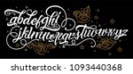 tattoo font. vintage style... | Shutterstock .eps vector #1093440368