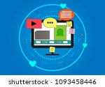 illustration of computer and...   Shutterstock .eps vector #1093458446