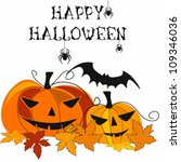vector halloween  background... | Shutterstock .eps vector #109346036