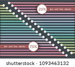 set line chart percentage flow... | Shutterstock .eps vector #1093463132