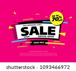 sale banner layout design ... | Shutterstock .eps vector #1093466972