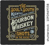 vintage label design with... | Shutterstock .eps vector #1093469558