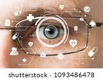future man with glasses cyber... | Shutterstock . vector #1093486478