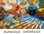 the beautiful antique buddhist... | Shutterstock . vector #1093492325