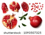pomegranate fruit with seeds... | Shutterstock . vector #1093507325