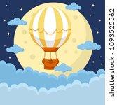 hot air ballon in the sky   Shutterstock .eps vector #1093525562
