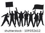 lots of furious people... | Shutterstock .eps vector #109352612