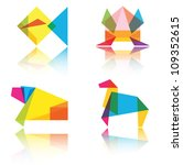 origami animal vector... | Shutterstock .eps vector #109352615