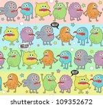 cute monsters seamless... | Shutterstock .eps vector #109352672