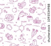seamless pattern with foods... | Shutterstock .eps vector #1093534988