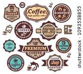 elegant vector coffee labels... | Shutterstock .eps vector #1093538855