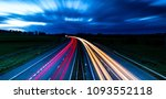 Light Trails Of A Uk Motorway